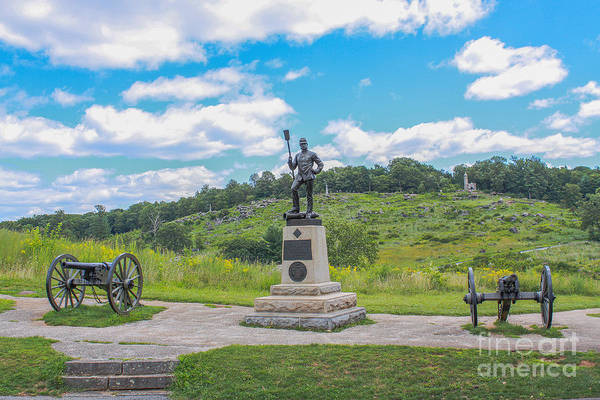 Cemetery Ridge Photograph - 4th New York Independent Battery Gettysburg by Randy Steele