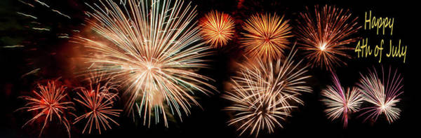 Fireworks Show Wall Art - Photograph - 4th Of July - Fireworks by Nikolyn McDonald