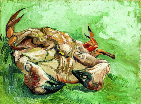 Post-it Painting - A Crab On Its Back by Vincent van Gogh