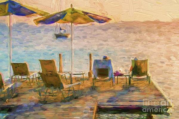 Wall Art - Digital Art - A Deck With A View by Patricia Hofmeester