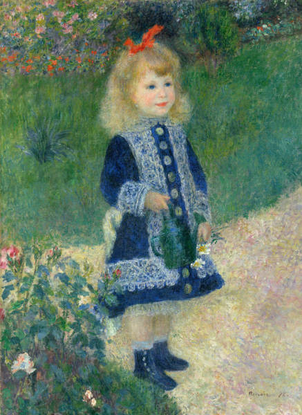 Renoir Wall Art - Painting - A Girl With A Watering Can by Auguste Renoir