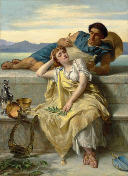 Wall Art - Painting - A Greek Ode  by Alfred Elmore