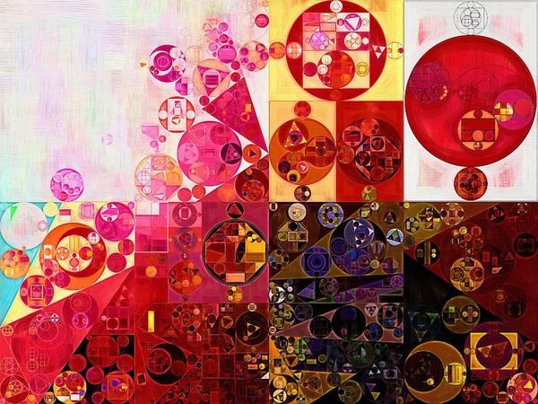 Red Brick Digital Art - Abstract Painting - Dark Sienna by Vitaliy Gladkiy