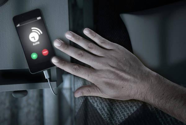 Wall Art - Digital Art - Alarming Cellphone Next To Bed by Allan Swart