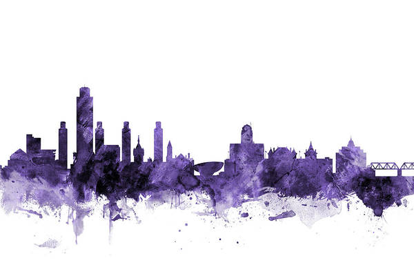 Albany New York Skyline Art Print