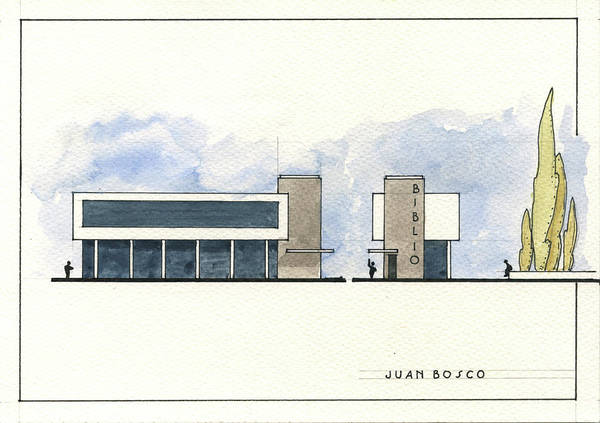 Wall Art - Painting - Architectural Drawing by Juan Bosco