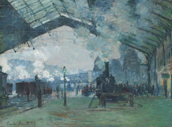 Lazare Painting - Arrival Of The Normandy Train, Gare Saint - Lazare by Claude Monet