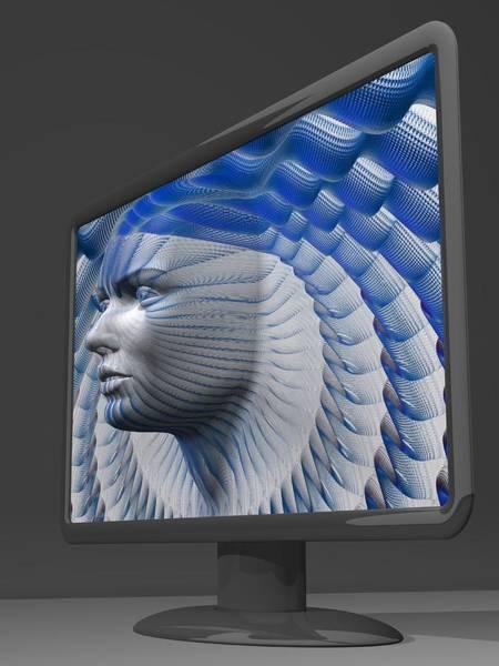 Vertical Digital Art - Artificial Intelligence, Artwork by Laguna Design