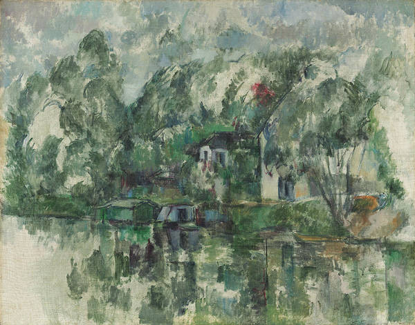 Painting - At The Water's Edge by Paul Cezanne
