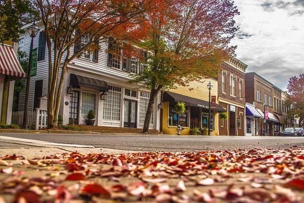 Wall Art - Photograph - Autumn Season In Downtown Of White Rose City York Suth Carolina by Alex Grichenko