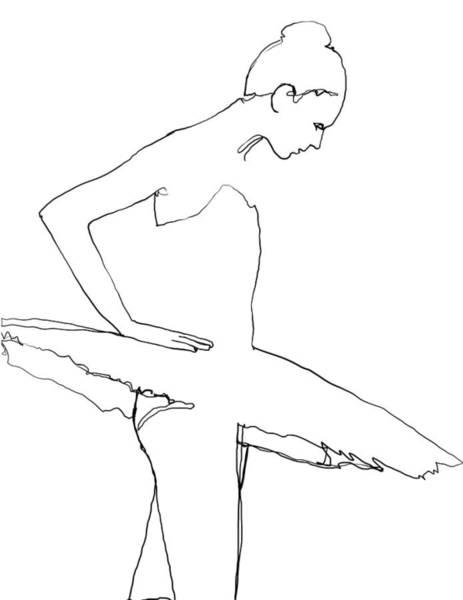 Line Drawing - Ballerina by H James Hoff