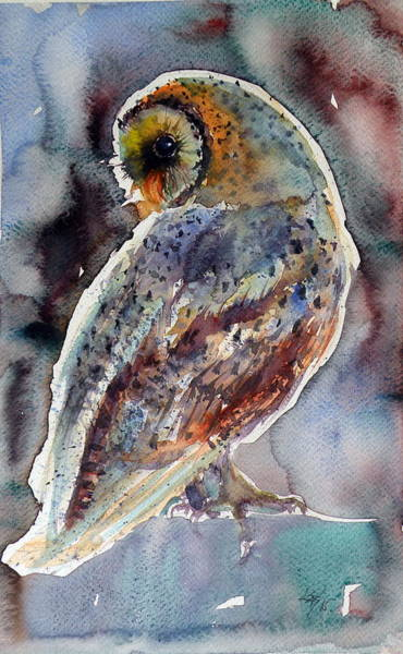 Owl Wall Art - Painting - Barn Owl by Kovacs Anna Brigitta