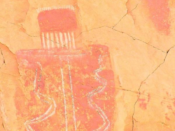 Petroglyphs Digital Art - Barrier Canyon Style Rock Art by Lisa Dunn