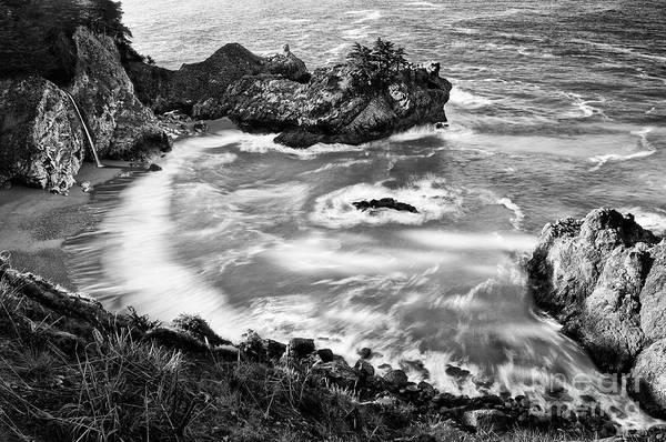 Wall Art - Photograph - Beautiful Mcway Falls Along The Big Sur Coast. by Jamie Pham