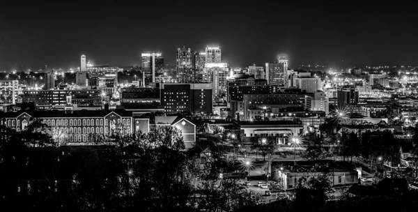 Birmingham Alabama Evening Skyline Art Print
