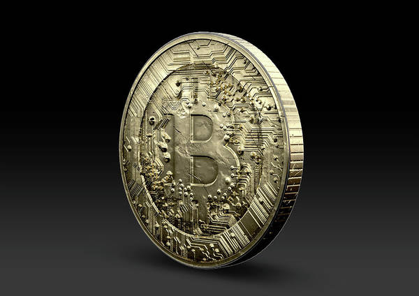 Wall Art - Digital Art - Bitcoin Physical by Allan Swart