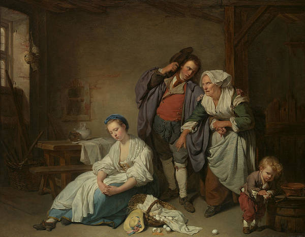 Broken Egg Painting - Broken Eggs by Jean-Baptiste Greuze