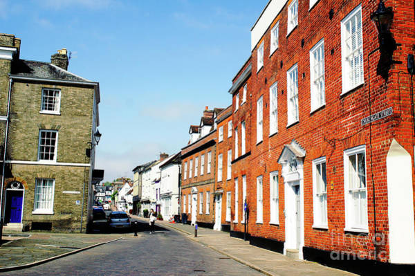 Wall Art - Photograph - Bury St Edmunds Houses by Tom Gowanlock