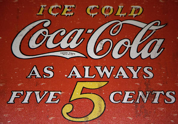 Soda Pop Mixed Media - 5 Cent Coca Cola by David Millenheft