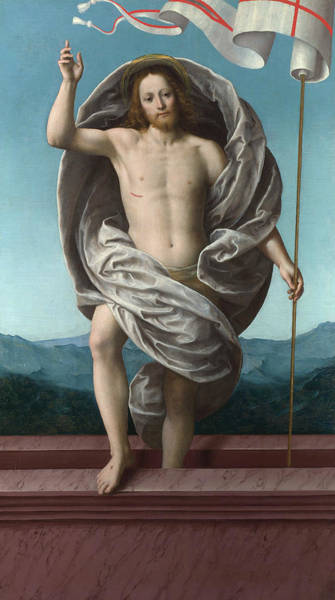 Wall Art - Painting - Christ Rising From The Tomb by Gaudenzio Ferrari