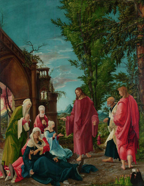 Faint Wall Art - Painting - Christ Taking Leave Of His Mother by Albrecht Altdorfer
