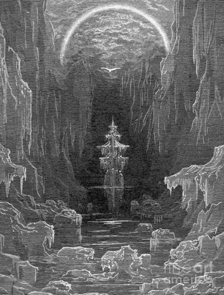Drawing - Ancient Mariner by Gustave Dore