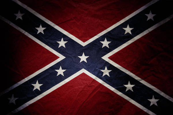 Wall Art - Photograph - Confederate Flag 8 by Les Cunliffe