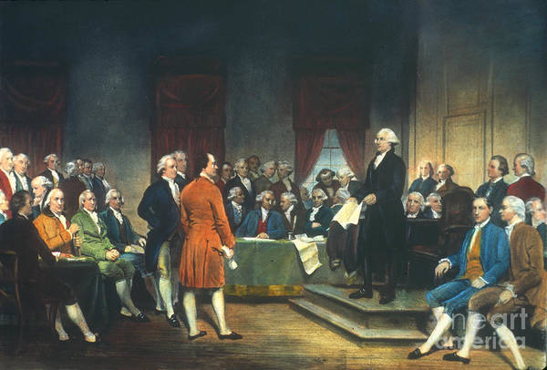 Delegation Photograph - Constitutional Convention by Granger