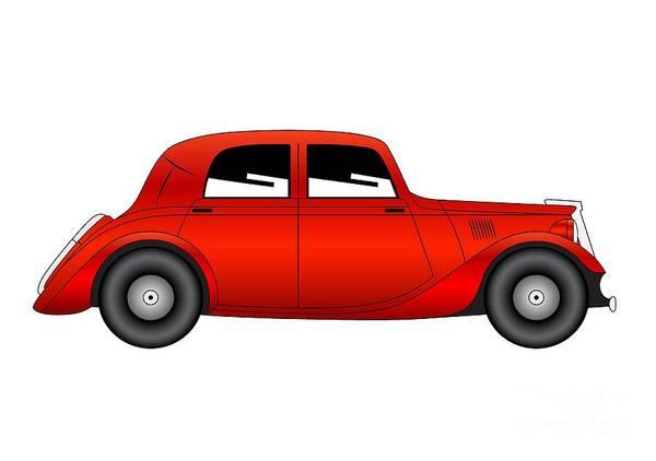 Digital Art - Coupe - Vintage Model Of Car by Michal Boubin