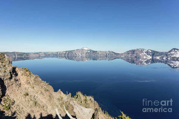 Photograph - Crater Lake Perfect Reflection In Oregon, Usa by Didier Marti