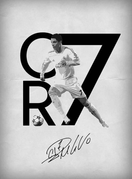 Manchester Wall Art - Digital Art - Cristiano Ronaldo by Semih Yurdabak