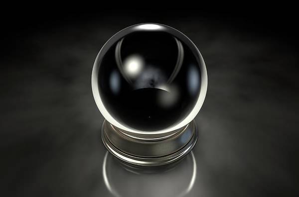 Witchcraft Digital Art - Crystal Ball Dark by Allan Swart