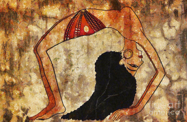 Wall Art - Painting - dancer of ancient Egypt by Michal Boubin