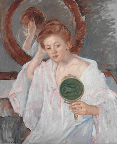 Painting - Denise At Her Dressing Table by Mary Cassatt