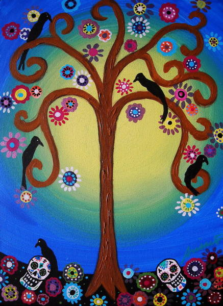 Harana Wall Art - Painting - Dia De Los Muertos by Pristine Cartera Turkus