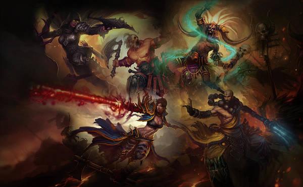 Fractal Digital Art - Diablo IIi by Super Lovely