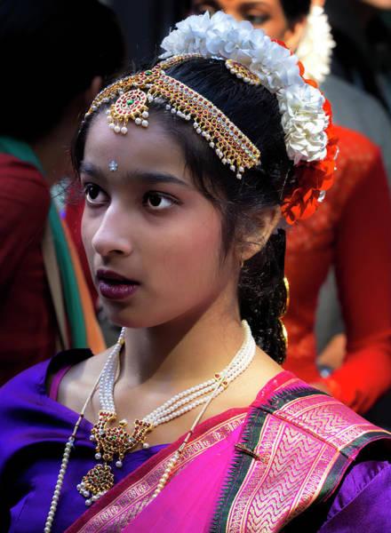 Pride Festival Photograph - Diwali Festival Nyc 2017 Female Classical Dancer by Robert Ullmann