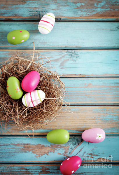 Wall Art - Photograph - Easter Egg Background by Kati Finell