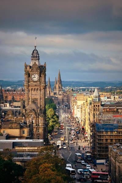Photograph - Edinburgh City Street by Songquan Deng