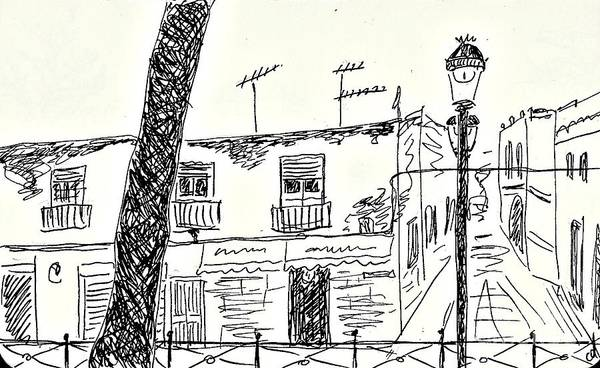 Drawing - El Puerto De Santa Maria by Chani Demuijlder