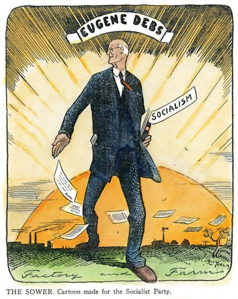 Parody Drawing - Eugene Debs, 1855-1926 by Granger