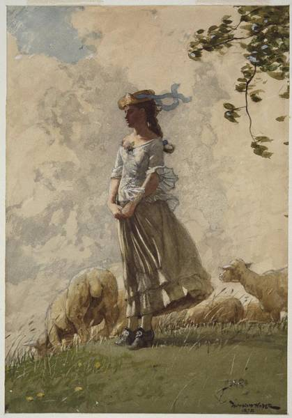 Wall Art - Painting - Fresh Air by Winslow Homer
