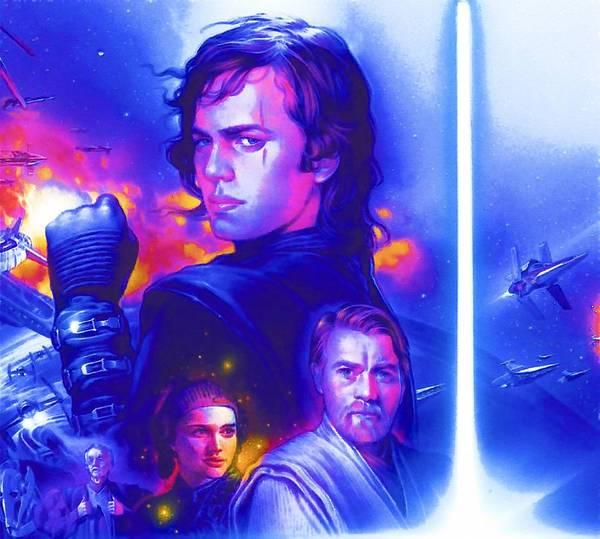 Star Wars Episode 3 Wall Art - Digital Art - Galaxies Star Wars Poster by Larry Jones