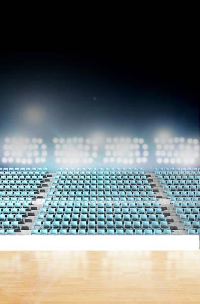 Courting Digital Art - Generic Floodlit Stadium by Allan Swart