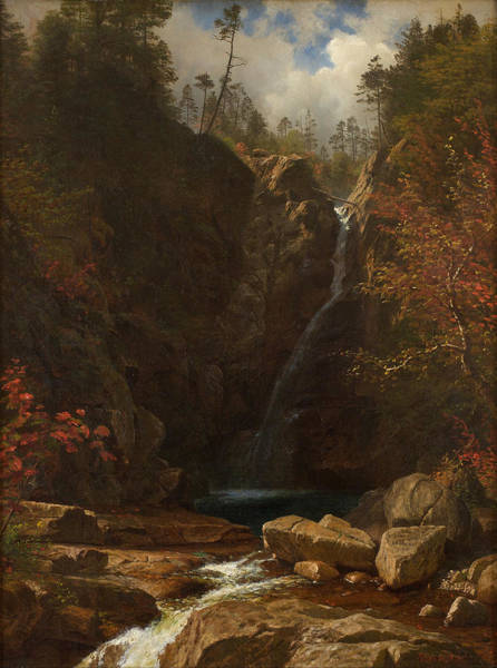 Painting - Glen Ellis Falls by Albert Bierstadt