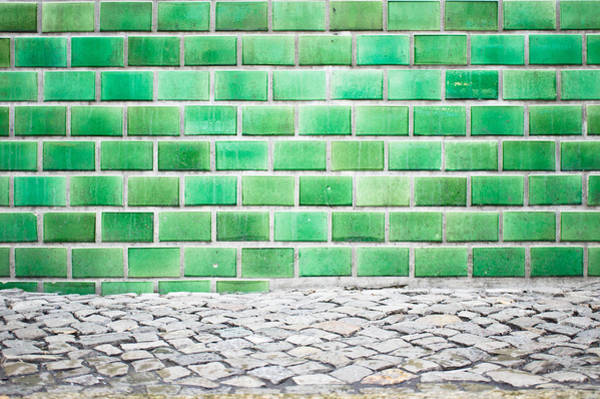 Glazed Tiles Photograph - Green Tiles by Tom Gowanlock