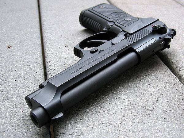 Handguns Photograph - Handgun by Mariel Mcmeeking