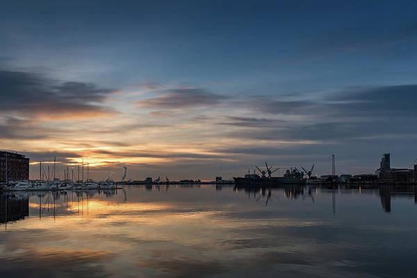 Bluehour Photograph - Harbor Light by Jim Archer