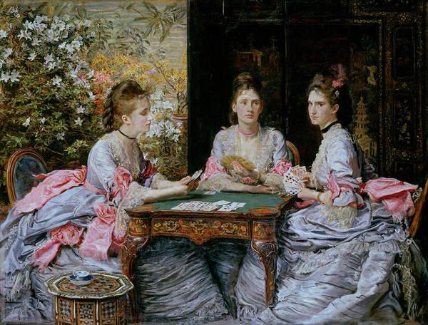 Millais Painting - Hearts Are Trumps by John Everett Millais