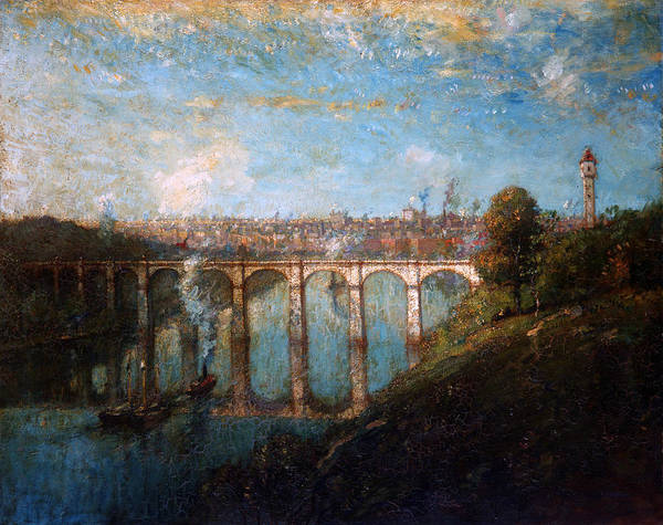 Ward Painting - High Bridge, New York by Henry Ward Ranger